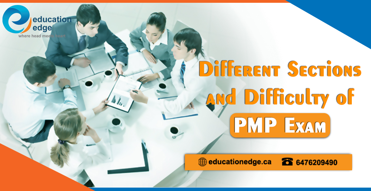 Different sections and difficulty of PMP exam